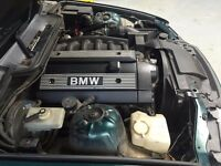 BMW E36 3 series 328i 6 cyl 190bhp Engine unit - M52B28 2.8 - Engine only - no gearbox