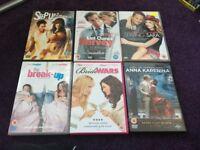 chick flicks dvds,50p each,lot b