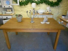 Lovely SOLID OAK Next Dining Table, Extendable, Restored, Rustic