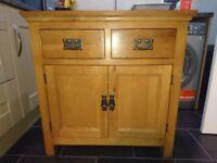 Dorchester oak mini sideboard