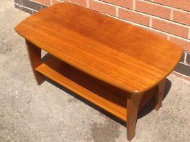 Vintage/retro 1960's teak veneered coffee table