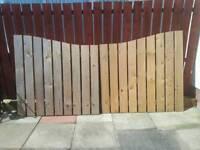 Solid wood garden gates