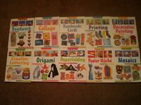 10 x Craft Books Step by Step Children's Collage Mosaics Home School Playgroups Holidays NEW