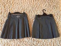 2 x grey school skirts, marks and Spencer's age 11-12