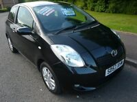 2007 Toyota Yaris 1.3 VVT-i TR Black 3dr Hatchback Petrol Manual LOW MILEAGE