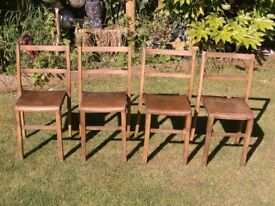4 x vintage stacking school chairs £20 the set ( children's chairs )