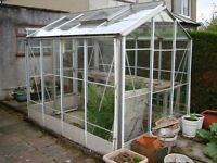 Aluminium Framed Greenhouse 8' x 6'