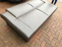 Brown Leather sofa bed quick sale, used but really clean. For Straight to the point buyers only