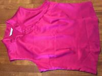 Size 10 satin effect top
