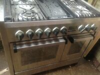 Stainless steel Range dual range gas cooker....Free Delivery