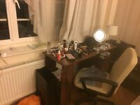Desk and chair in very good condition - £5.