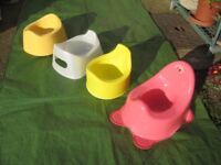 Three Potties and Two Mothercare Toilet Training Seats - £2.00 each