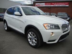 2013 BMW X3 NAVIGATION 49,595KM! PANORAMIC WHITE-NAVADA BROWN