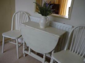 Vintage Gate Leg Table and 2 Chairs