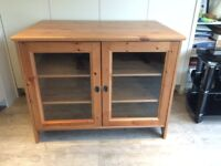 Ikea, pine TV cabinet. Used, good condition. Can deliver.