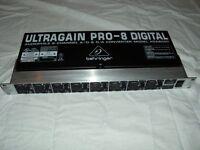 BEHRINGER ULTRAGAIN PRO8 ADA 8000 A/D D/A CONVERTER