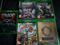 5x Xbox one games