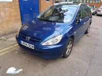 CHEAP PEUGEOT 307 ESTATE 7 SEATER AUTOMATIC FOR QUICK SALE