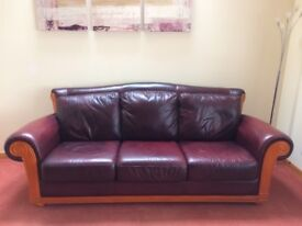 3 + 2 seater sofa with foot stool