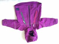 Polarn O. Pyret purple waterproof kids shell jacket, 2-3 years.