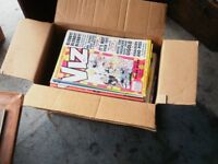 box of vis and smut comics