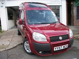 2008 FIAT DOBLO,DIESEL,WHEELCHAIR ACCESS WITH RAMP AND STRAPS,FULL HISTORY,PCO LICENSED,AIR CON,CD,