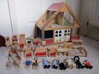 Children wooden Doll house