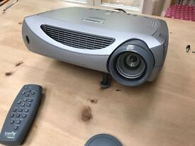 Infocus Screenplay Projector 5700 with screen and ceiling mount