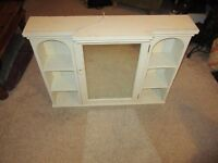 Mirrored Bathroom Cabinet - Shabby Chic style with light
