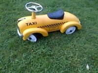 cute ride-on metal kids car VGC