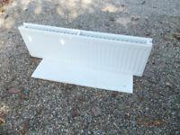White double panel radiator