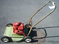 hayterette push mower with alloy deck so can't rust, gwo