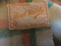 100% Welsh Woolen Blanket Double Size