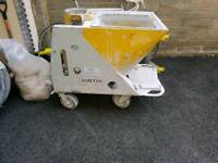 Plastering machine/liquid-screed