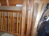 A Heavy duty pine bed frame