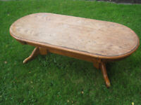 Solid wood shabby chic Coffee Table. Can deliver locally (wooden)