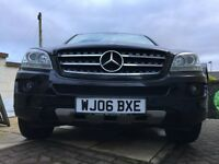MERCEDES ML SE 3.0 CDI V6 TURBO DIESEL 7 SPEED AUTOMATIC 4X4 FSH METALLIC BACK / LEATHER