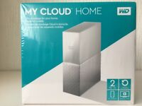 WD My Cloud Home 2tb Brand New Unopened WiFi Hard Drive