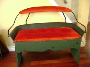 Antique buggy bench