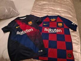 Boys Barcelona football tops