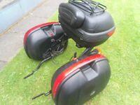 Givi Mono-Lock Hard Case - Luggage x3 / Baggalux / Suzuki Bandit wheels / Triumph Exhaust .