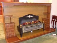 For sale - Fire surround with electric fire Reduced for quick sale