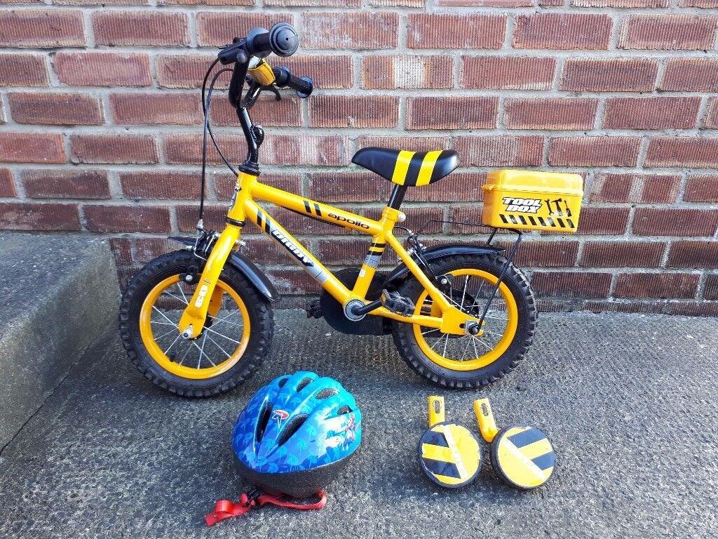 Apollo Digby Boys Bike 12 Inch Wheels + Helmet, Spiderman Balance Bike & Avigo Scooter
