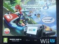 NINTENDO Wii U 32GB MARIOKART 8 PREMIUM PACK BRAND NEW