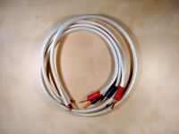 Pair of 1m QED XT-40 Speaker cable with QED Airloc plus on one end