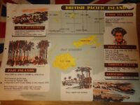 Vintage 1950's Educational Wall Poster Empire Information Project - British Pacific Islands (2)