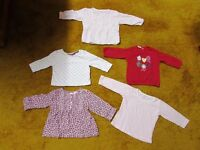 Girl 3-6 mths bundle of tops, jumpers, trousers, tights, shorts, vest, dress 24 items