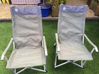 Pair Of Coleman Sling Garden/Camping Chairs