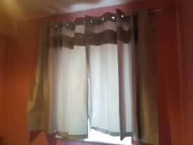 "47"" 54"" silver eyelet curtains"