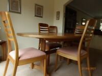 G-Plan Oval Dining Table and Chairs